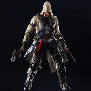Assassin's Creed 3 Connor Ratohnhaketon 280mm PVC製 塗装済み可動フィギュア
